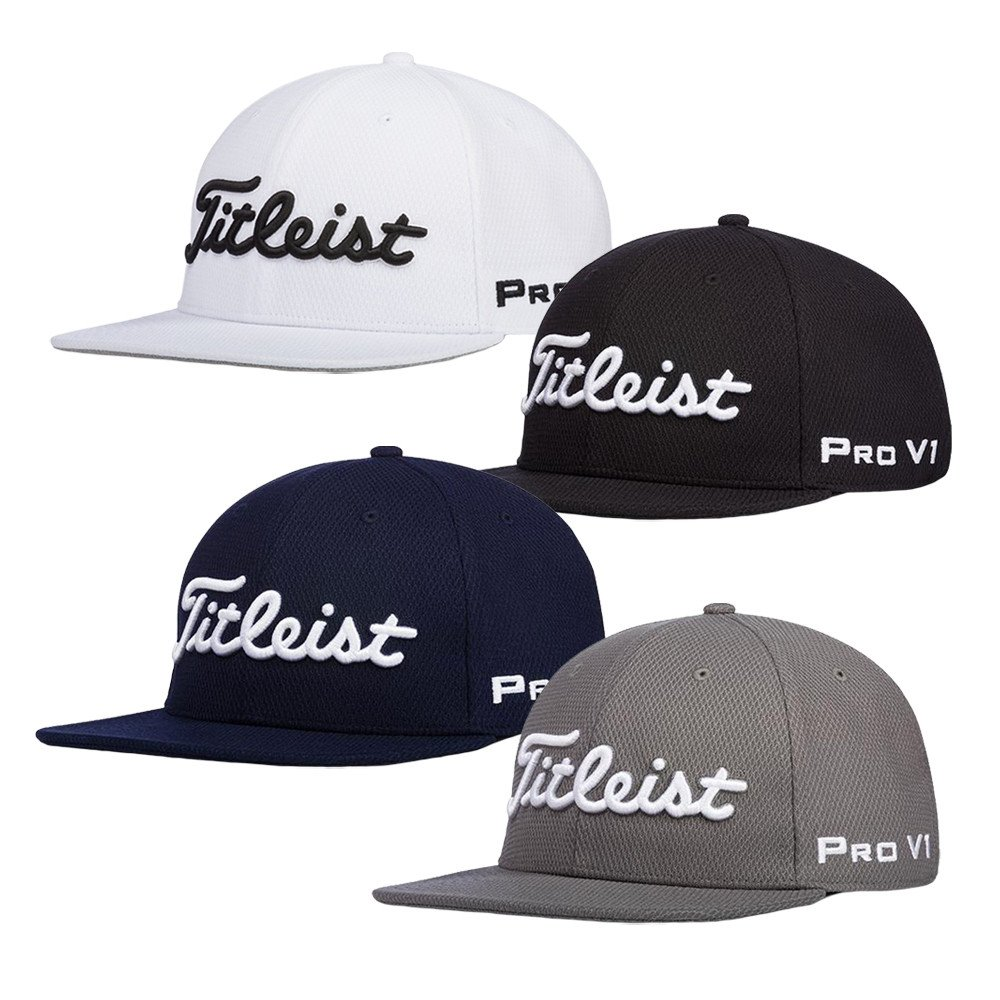 Titleist Tour Flat Bill Adjustable Hat - Men s Golf Hats   Headwear -  Hurricane Golf 6b85c3899d1
