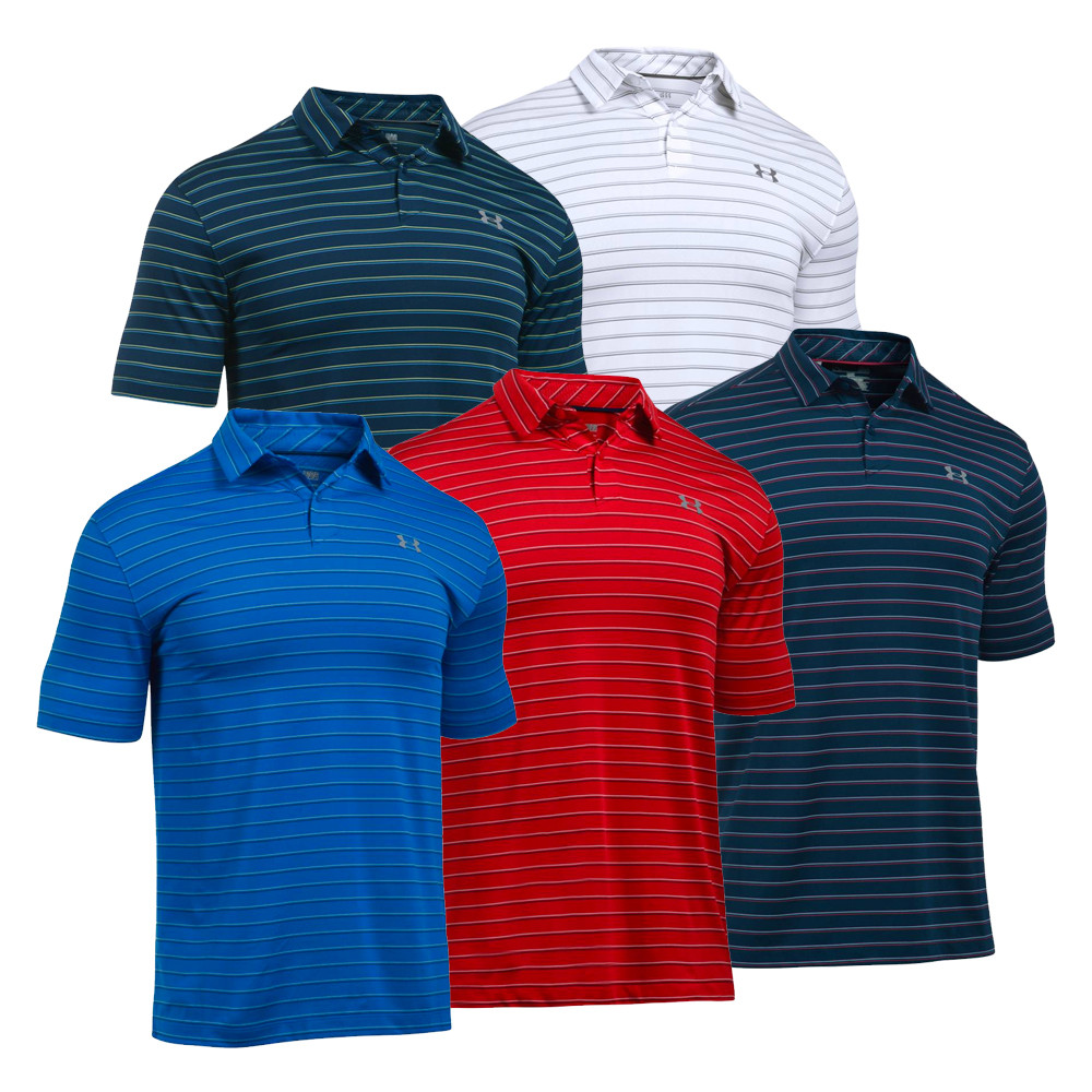 Under Armour UA CoolSwitch Putting Stripe Men's Golf Polo Shirt - Under Armour Golf