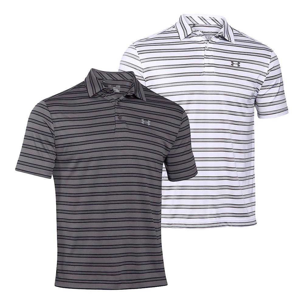 Under Armour UA Tech Leaderboard Stripe Short-Sleeve Polo - Under Armour Golf