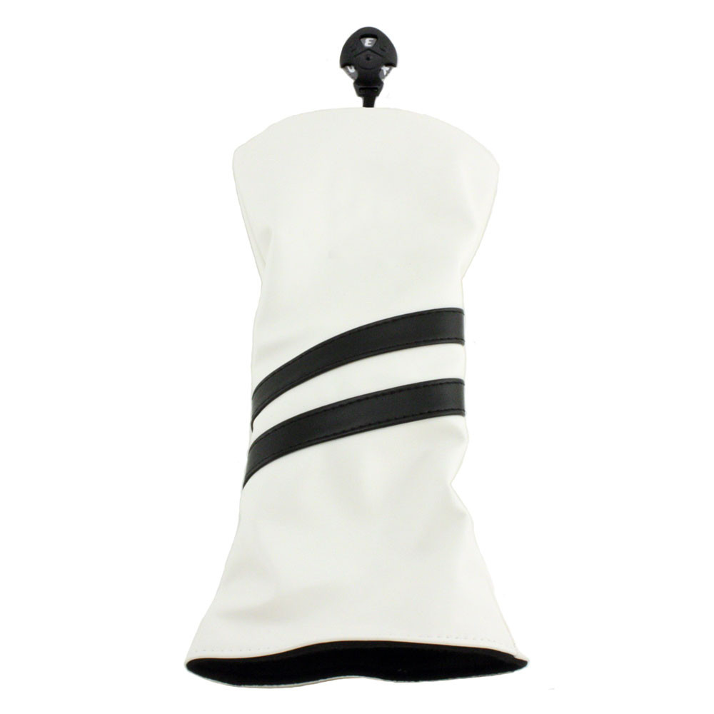 Hurricane Golf 2 Stripe Fairway Wood Headcover White/Black - Hurricane Golf