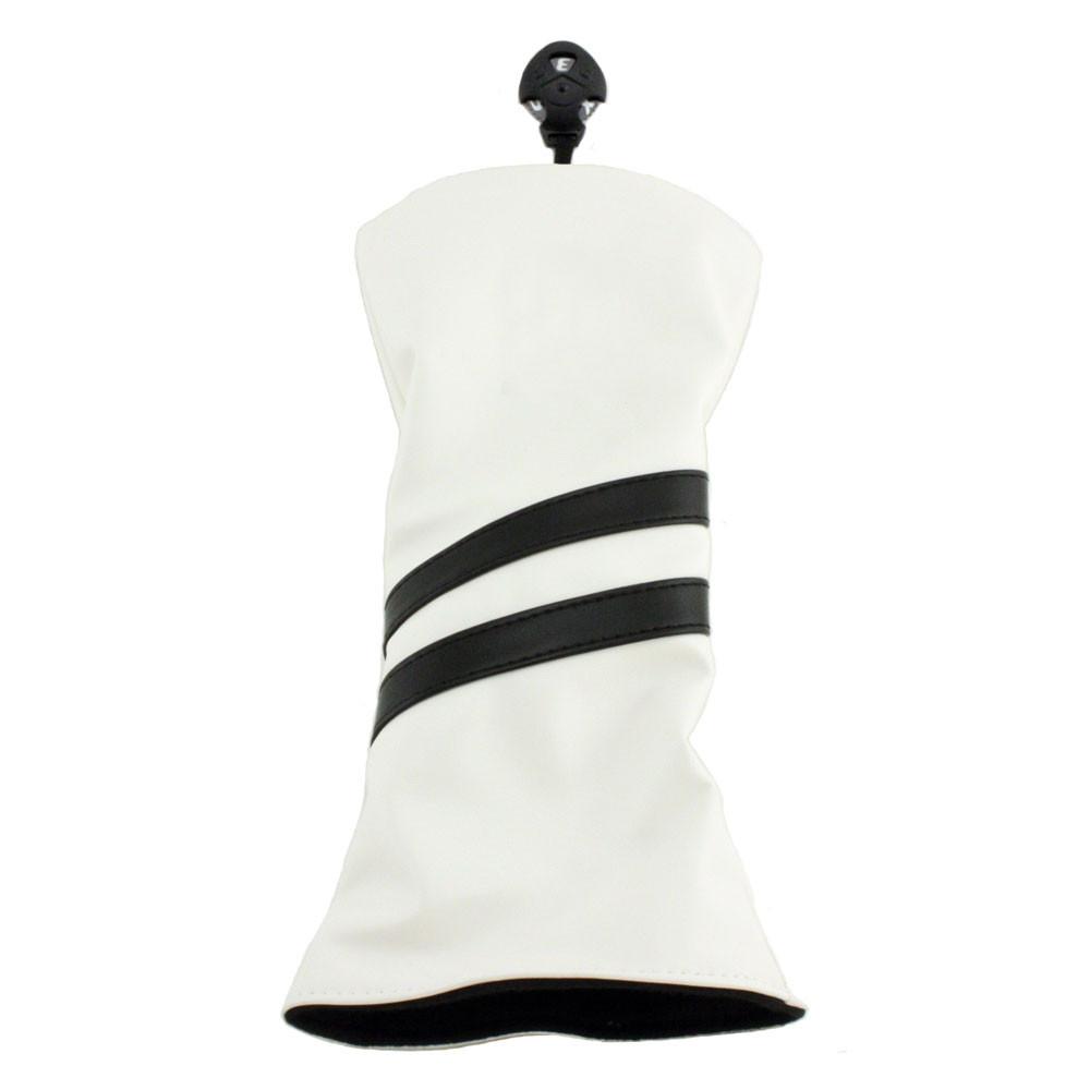 Hurricane Golf 2 Stripe Fairway Wood Headcover White/Black - Hurricane Golf