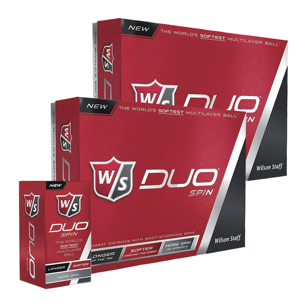 Wilson Staff Duo Spin Golf Ball White - Wilson Staff Golf