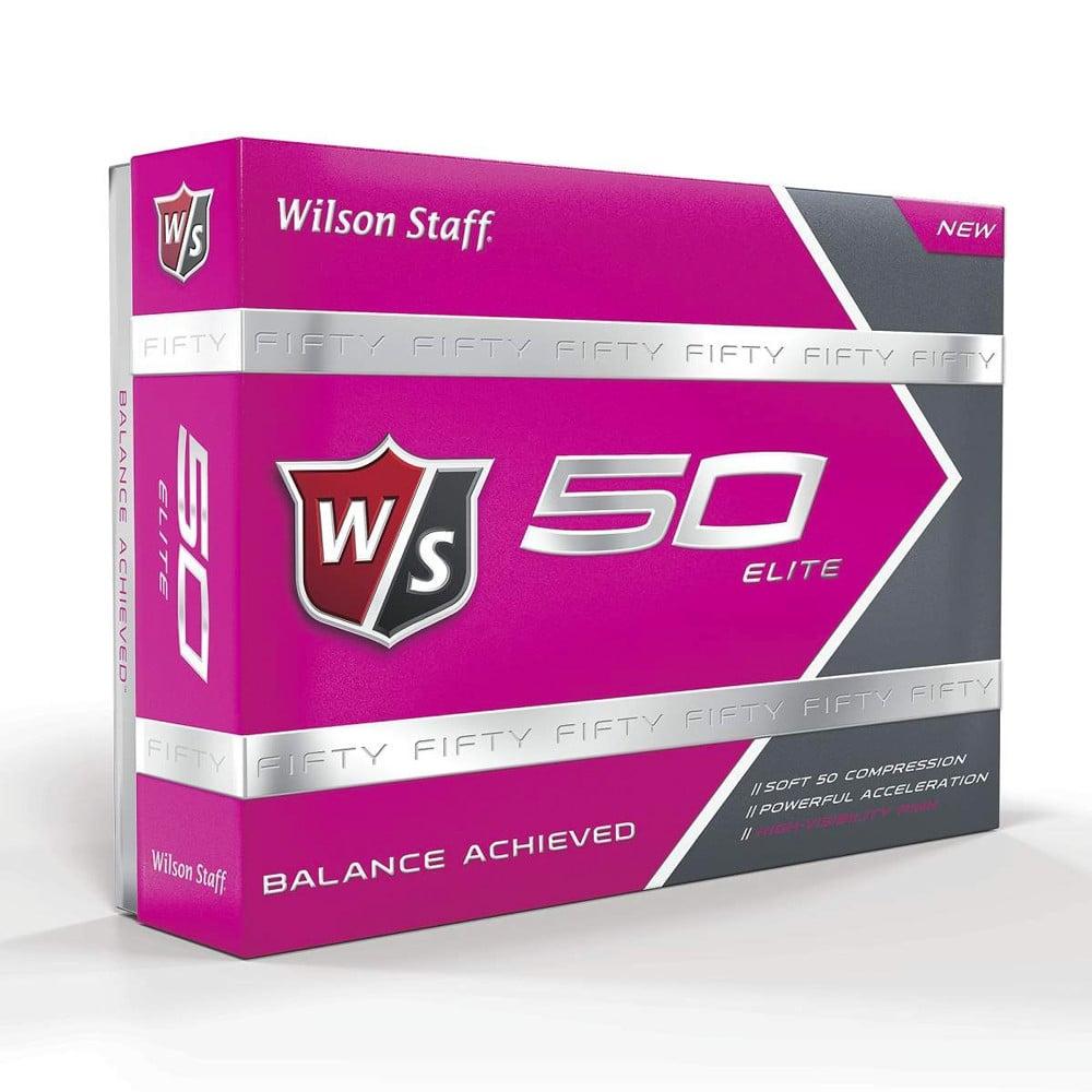 Wilson Staff Fifty Elite Pink Golf Balls - Wilson Staff Golf