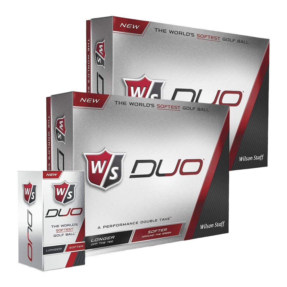 Wilson Staff Duo White Golf Balls - Wilson Staff Golf