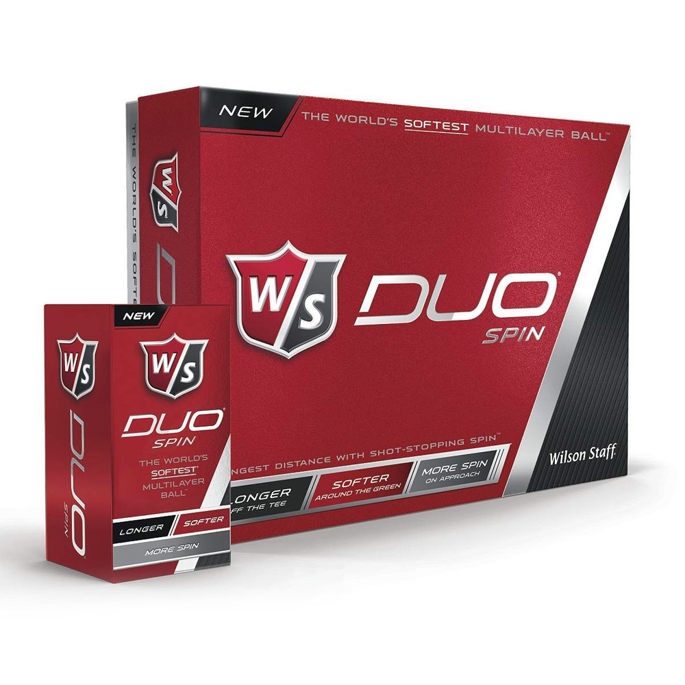 2015 - Wilson Staff Duo Spin Golf Ball White - 1 Dozen