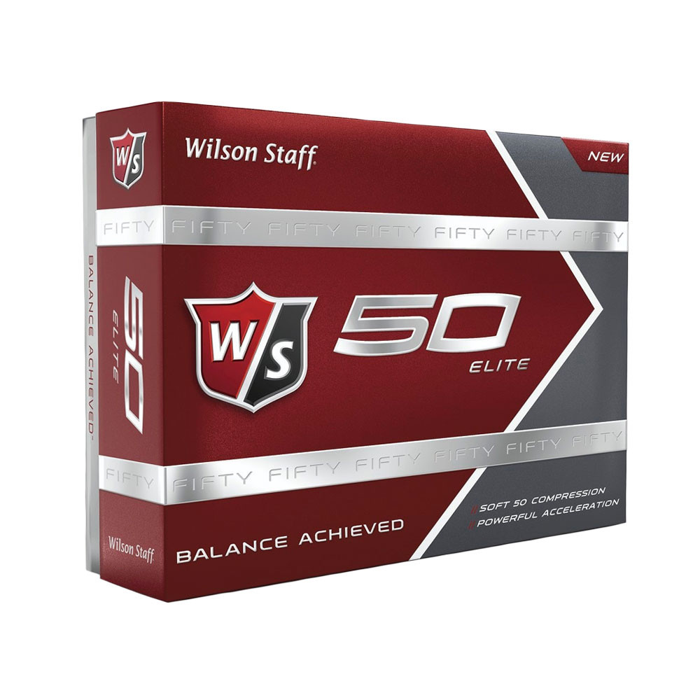 Wilson Staff Fifty Elite White Golf Balls - Wilson Staff Golf