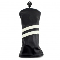 Hurricane Golf 2 Stripe Driver Headcover Black/White - Hurricane Golf