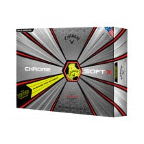 2018 Callaway Chrome Soft X Truvis Yellow Golf Balls - 1 Dozen
