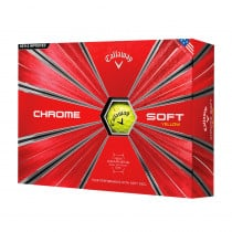 2018 Callaway Chrome Soft Yellow Golf Balls - Callaway Golf