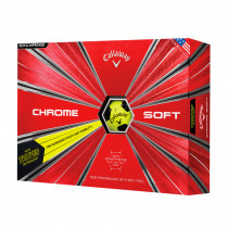 2018 Callaway Chrome Soft Truvis Yellow Golf Balls - Callaway Golf