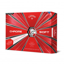 2018 Callaway Chrome Soft Truvis Red Golf Balls - Callaway Golf