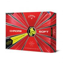 2018 Callaway Chrome Soft Truvis Yellow Golf Balls - 1 Dozen