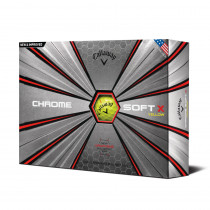 2018 Callaway Chrome Soft X Yellow Golf Balls - Callaway Golf
