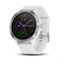 Garmin Vivoactive 3 GPS Watch White with Stainless Hardware - Garmin Golf