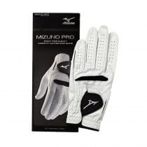 Mizuno Pro Golf Glove White/Black - Mizuno Golf