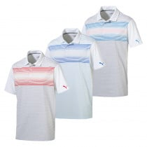 PUMA Highlight Stripe Golf Polo - PUMA Golf
