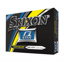 Srixon Q-Star 4 Tour Yellow Golf Balls - 1 Dozen