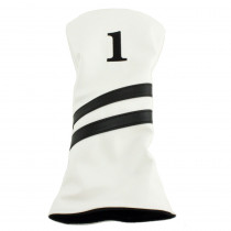 Hurricane Golf 2 Stripe Driver Headcover White/Black - Hurricane Golf