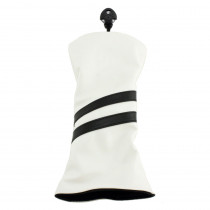 Hurricane Golf 2 Stripe Hybrid Headcover White/Black - Hurricane Golf