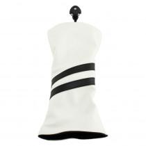 Hurricane Golf 2 Stripe Hybrid Headcover White/Black - Hurricane Golf