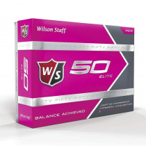 Wilson Staff Fifty Elite Pink Golf Balls - Wilson Staff Golf
