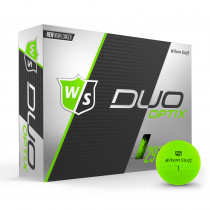 Wilson Staff Duo Soft Golf Balls Optix Lectric Lime - Wilson Staff Golf