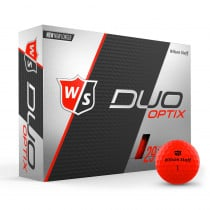 Wilson Staff Duo Soft Golf Balls Optix Red - Wilson Staff Golf