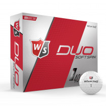 Wilson Staff Duo Soft Spin Golf Balls - White - 1 Dozen
