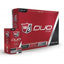 Wilson Staff Duo Spin Golf Ball White - 1 Dozen