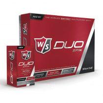 Wilson Staff Duo Spin Golf Ball White - 1 Dozen