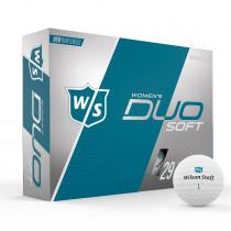 Wilson Staff Duo Soft Matte Ladies - White Matte - 1 Dozen