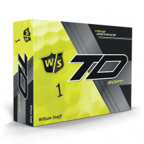 Wilson Staff True Distance Golf Balls - Soft Yellow - Wilson Staff Golf