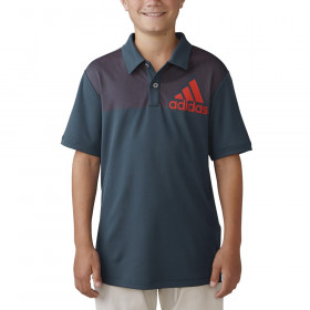 Boy's Adidas Big Logo Dot Print Polo