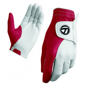 TaylorMade Tour Preferred Vivid Glove Vivid White/Red