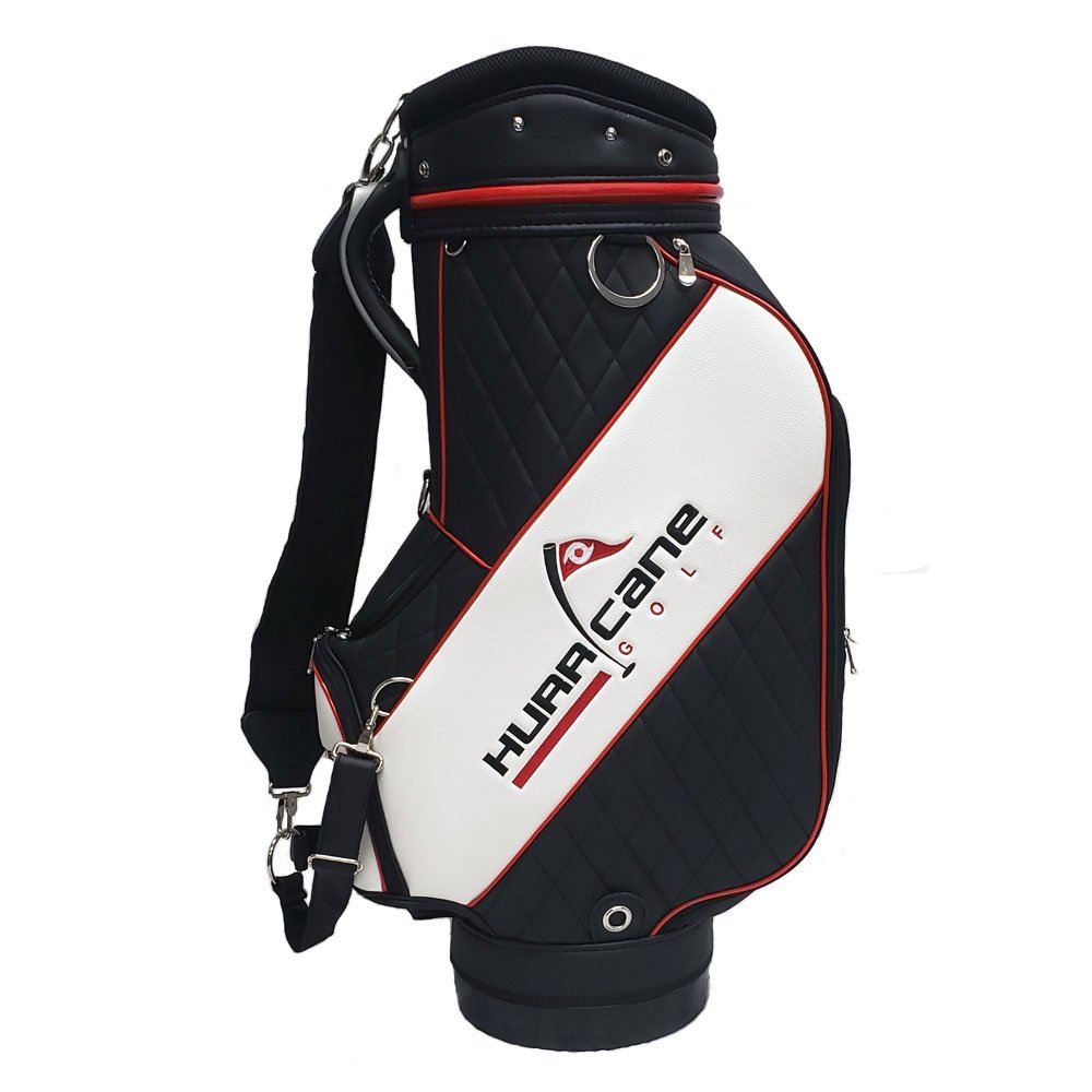 effccd7dc071 Details about NEW Hurricane Golf Staff Bag Black White - 10x9 Inch Top - 6  Full Lined Dividers
