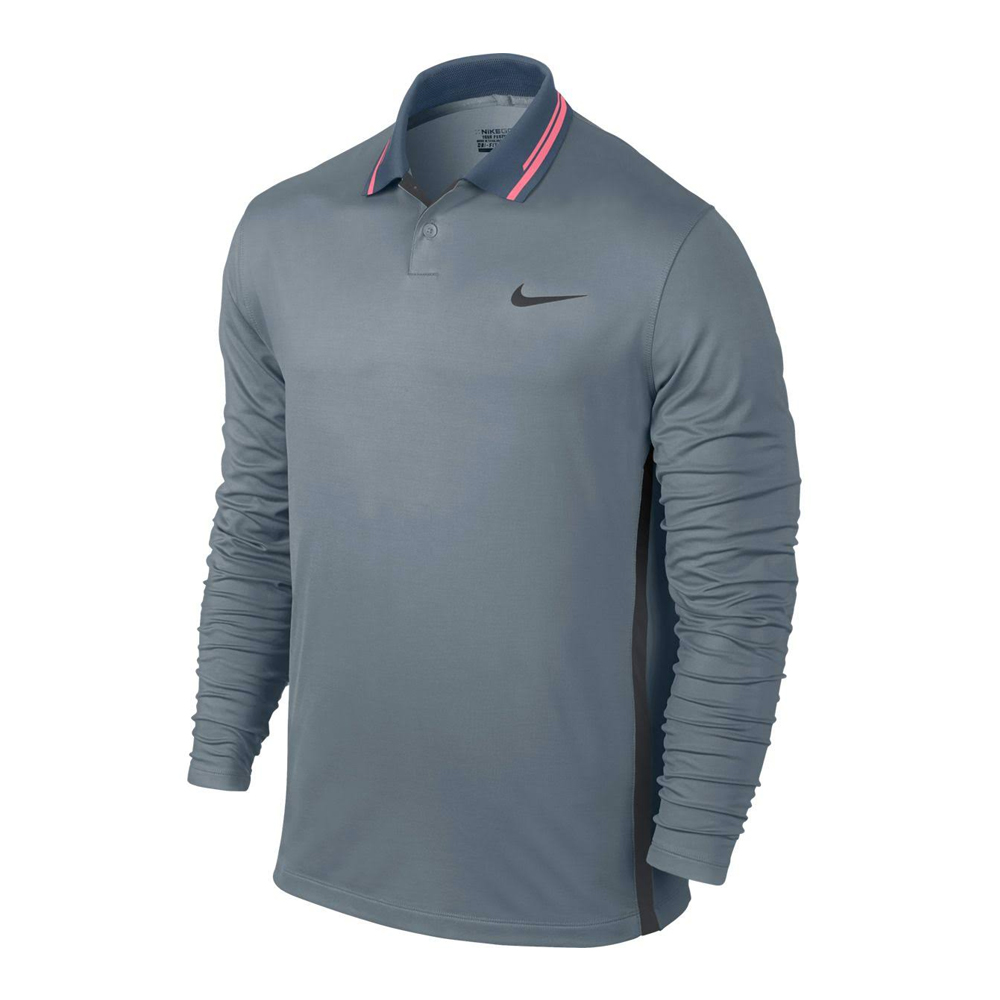 new nike long sleeve warm inset men 39 s golf polo dri fit
