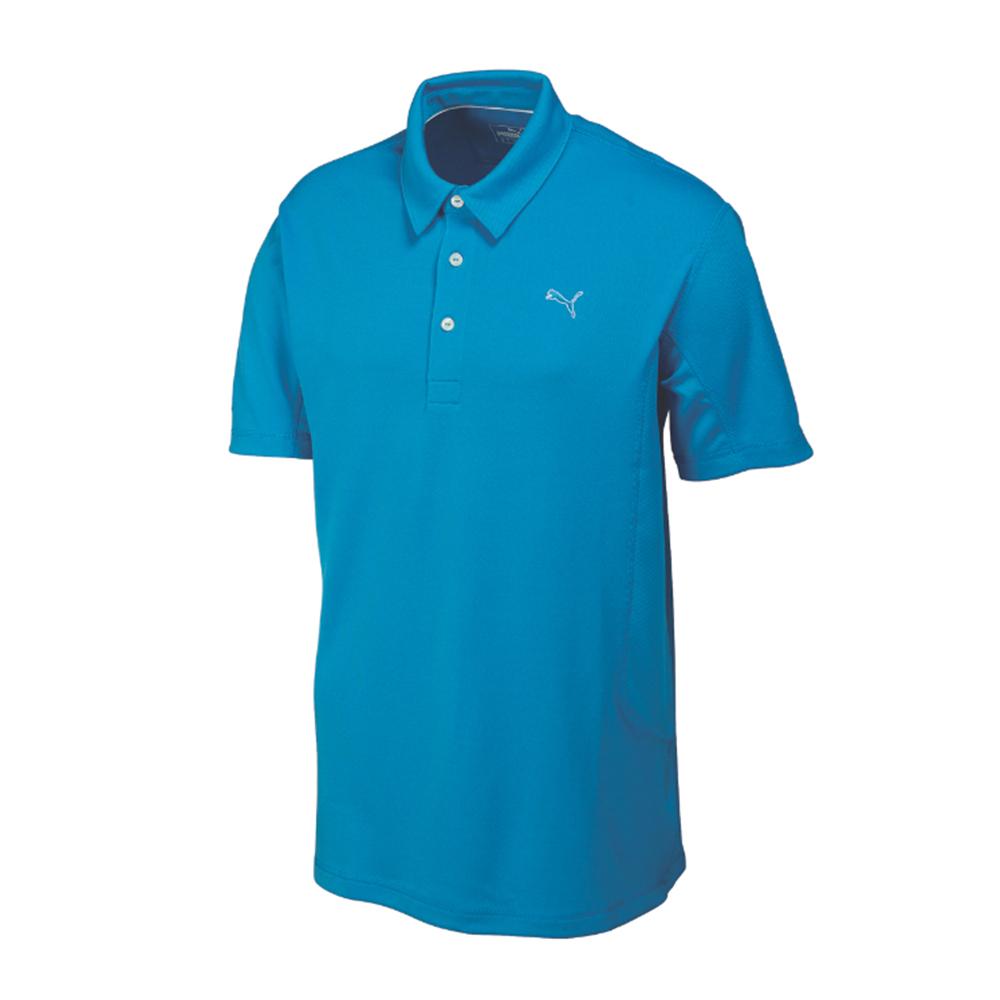 New rickie fowler puma tech golf polo shirt w moisture for Moisture wicking golf shirts