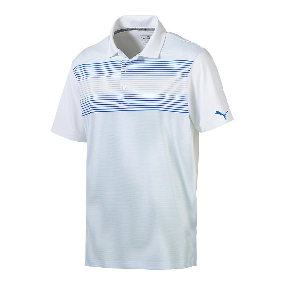 New-PUMA-Highlight-Stripe-Golf-Polo-dryCELL-Technology-Pick-Shirt thumbnail 3