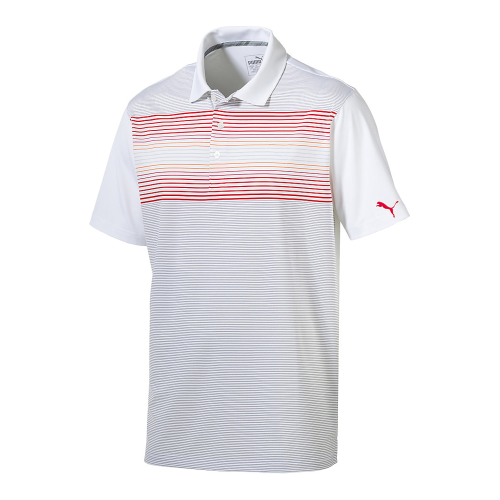 New-PUMA-Highlight-Stripe-Golf-Polo-dryCELL-Technology-Pick-Shirt thumbnail 4
