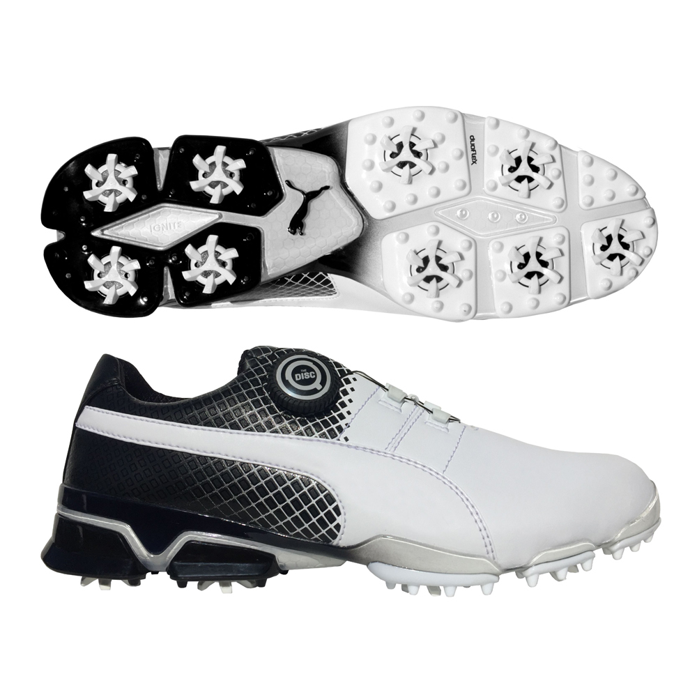 Hurricane Golf Brand New and Factory Sealed PUMA TitanTour Ignite Disc Golf  Shoes - Special Edition White Black BUY IT NOW  99.99! 59a94f004
