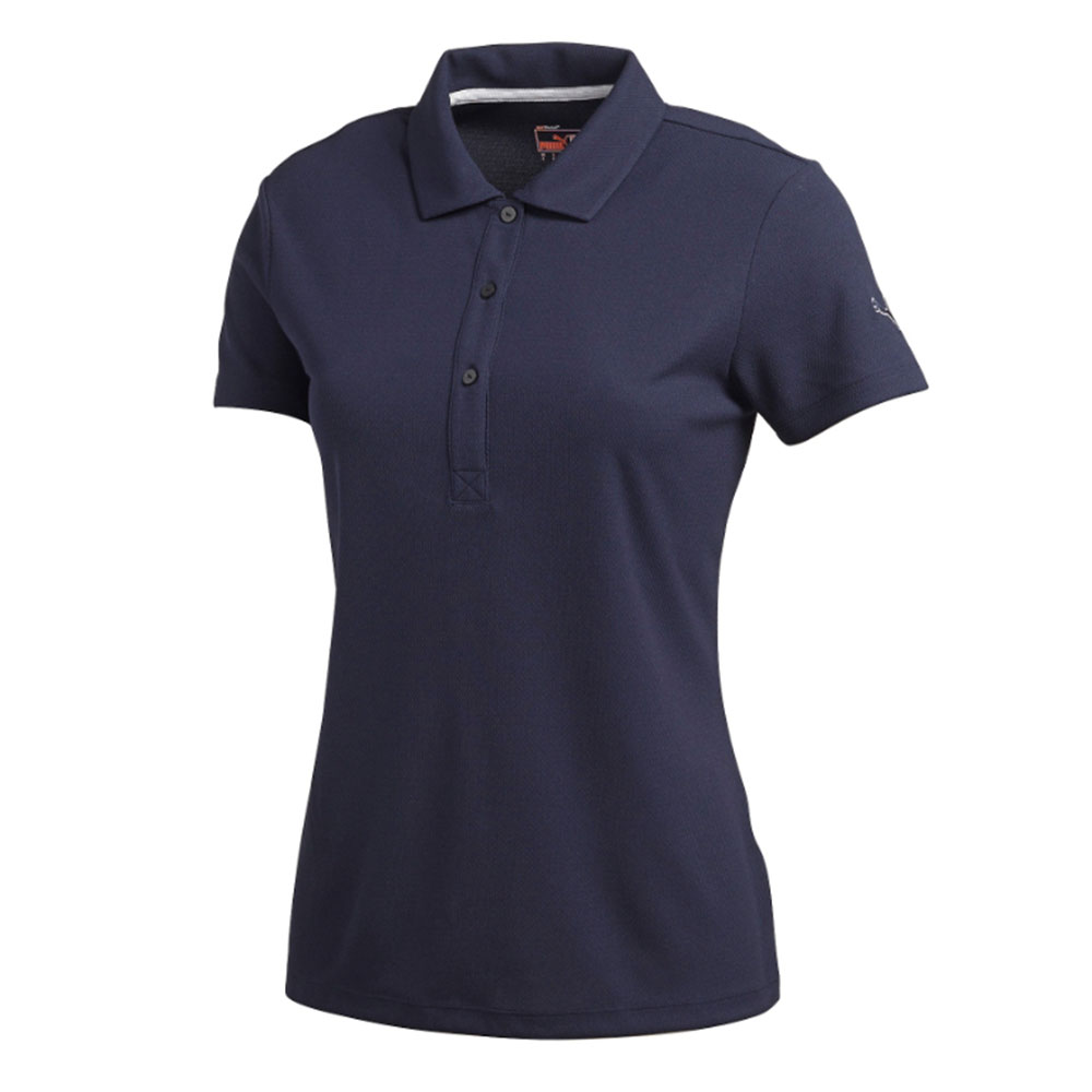 New women 39 s puma essential polo cresting moisture wicking for Moisture wicking golf shirts