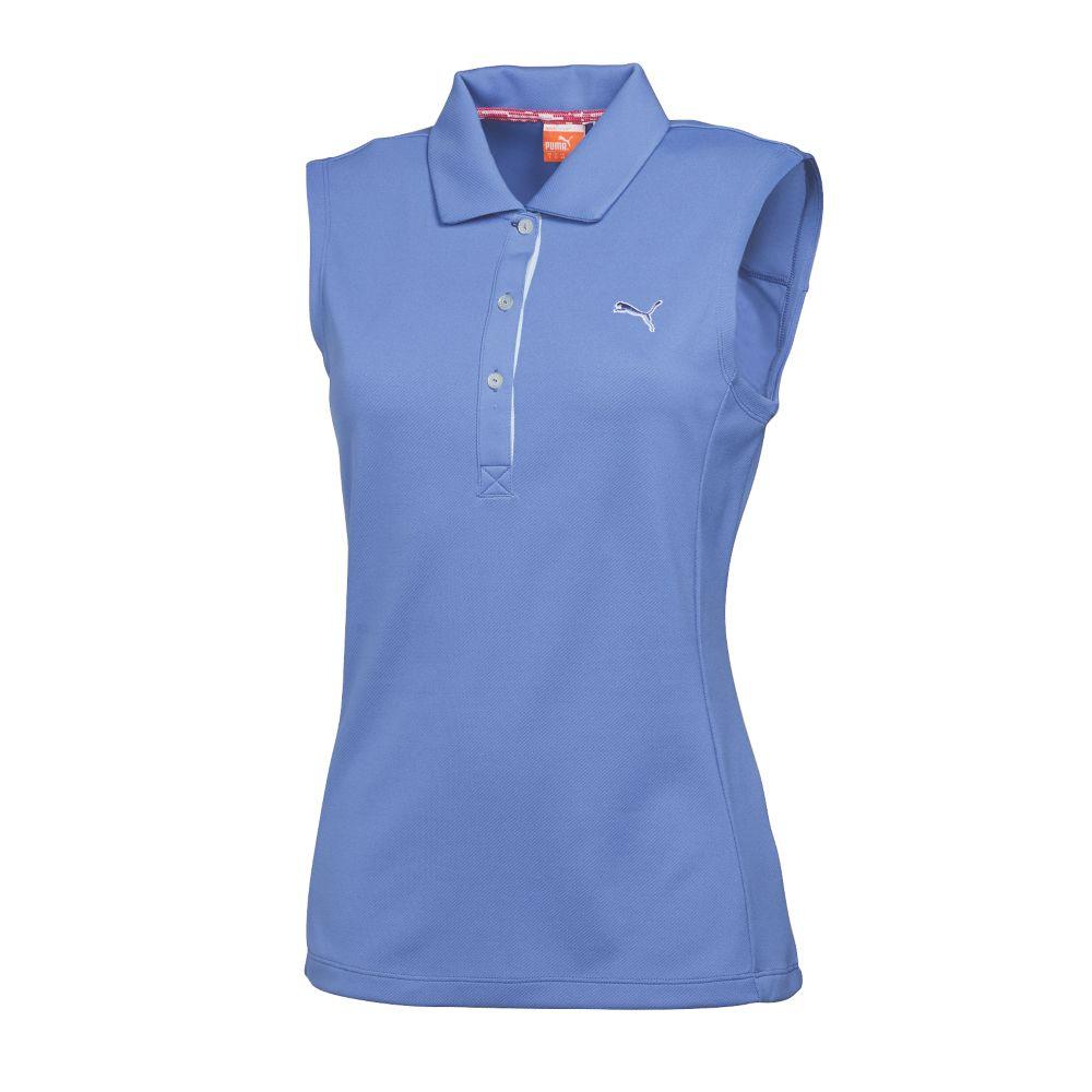 New 2015 women 39 s puma tech sleeveless golf shirt w for Plus size sleeveless golf shirts