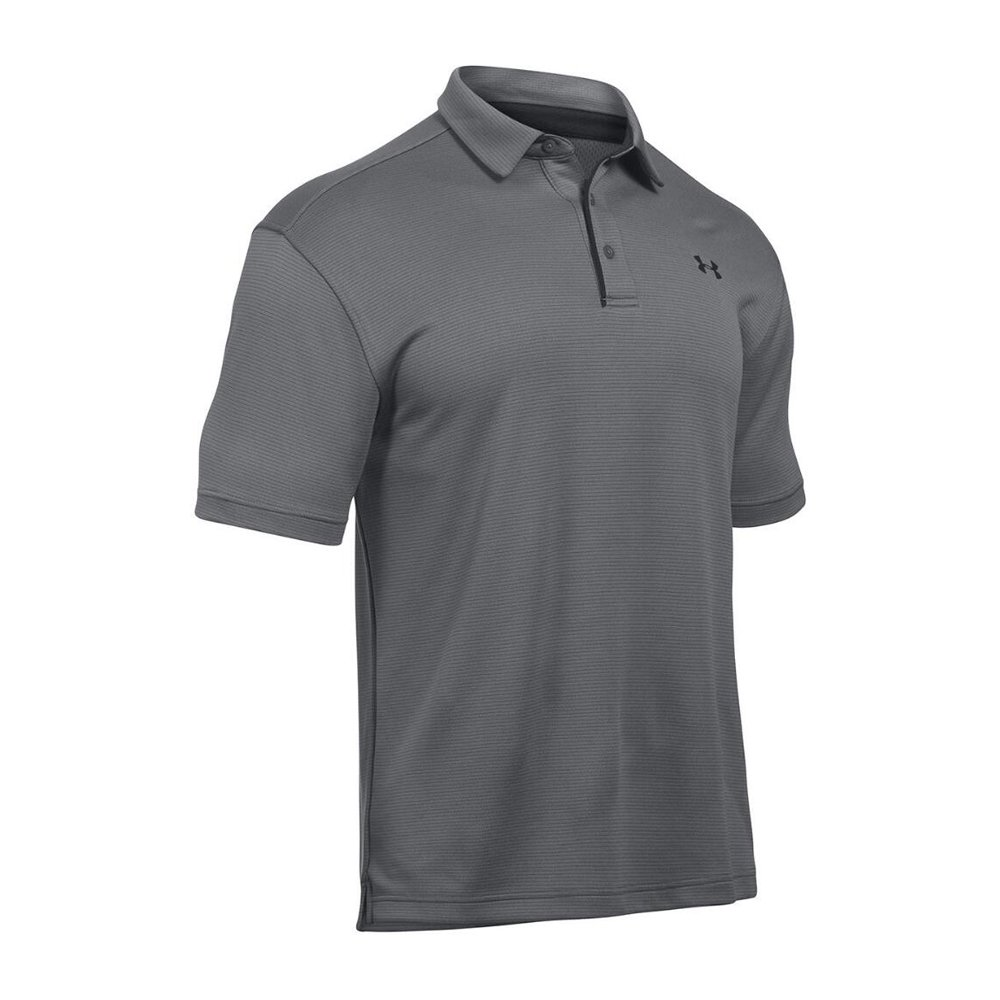 Under armour ua tech men 39 s golf polo shirt ebay for Mens golf polo shirts